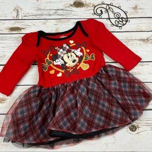 Disney Dress Minnie Mouse Holiday Plaid Tutu Lined